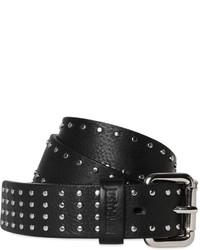 Женский черный кожаный пояс с шипами от Just Cavalli