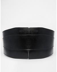Черный кожаный пояс от Asos
