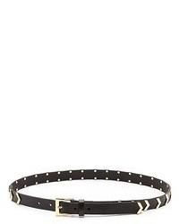 Женский черный кожаный ремень с украшением от Linea Pelle