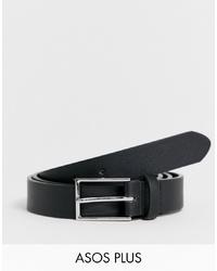Мужской черный кожаный ремень от ASOS DESIGN