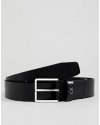Мужской черный кожаный ремень от Calvin Klein