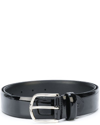 Мужской черный кожаный ремень от Canali