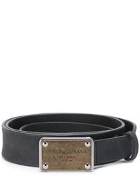 Мужской черный кожаный ремень от Dolce & Gabbana