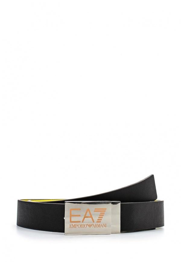 Женский черный кожаный ремень от EA7