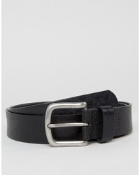 Мужской черный кожаный ремень от Esprit