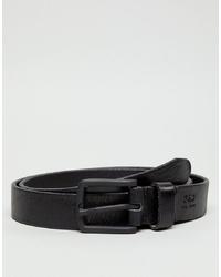 Мужской черный кожаный ремень от Jack & Jones