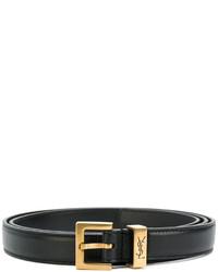 Женский черный кожаный ремень от Saint Laurent