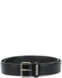 Мужской черный кожаный ремень от Saint Laurent