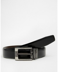 Мужской черный кожаный ремень от Ted Baker