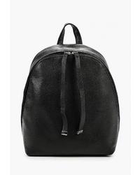 Женский черный кожаный рюкзак от Afina