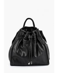 Женский черный кожаный рюкзак от Antan