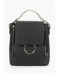 Женский черный кожаный рюкзак от Baggini