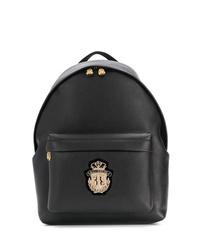Мужской черный кожаный рюкзак от Billionaire