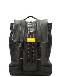 Мужской черный кожаный рюкзак от Diesel