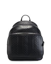 Мужской черный кожаный рюкзак от Emporio Armani