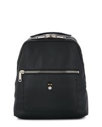 Мужской черный кожаный рюкзак от Fendi