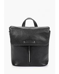 Женский черный кожаный рюкзак от Franchesco Mariscotti
