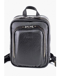 Женский черный кожаный рюкзак от Frenzo