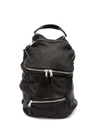 Мужской черный кожаный рюкзак от Giorgio Brato