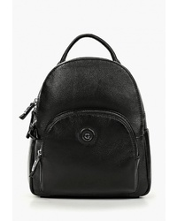Женский черный кожаный рюкзак от Giorgio-Ferretti