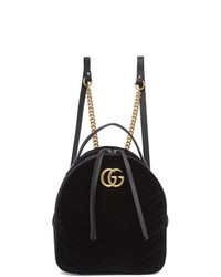 Женский черный кожаный рюкзак от Gucci