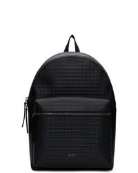 Мужской черный кожаный рюкзак от Hugo