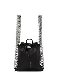 Женский черный кожаный рюкзак от Kara