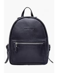 Женский черный кожаный рюкзак от Lakestone