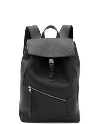 Мужской черный кожаный рюкзак от Loewe