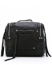 Женский черный кожаный рюкзак от McQ by Alexander McQueen