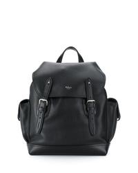 Мужской черный кожаный рюкзак от Mulberry
