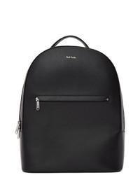 Мужской черный кожаный рюкзак от Paul Smith