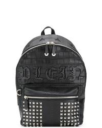 Мужской черный кожаный рюкзак от Philipp Plein