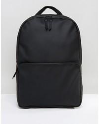 Мужской черный кожаный рюкзак от Rains