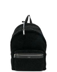 Мужской черный кожаный рюкзак от Saint Laurent