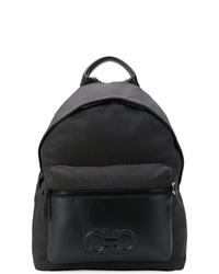 Мужской черный кожаный рюкзак от Salvatore Ferragamo
