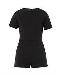 Черный комбинезон с шортами