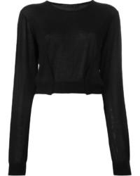 Женский черный короткий свитер от Haider Ackermann