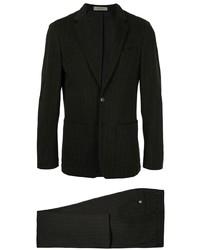 Черный костюм в вертикальную полоску от Corneliani