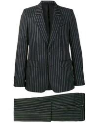 Черный костюм в вертикальную полоску от Givenchy