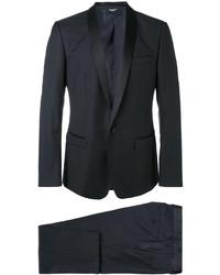 Мужской черный костюм-тройка от Dolce & Gabbana