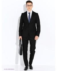 Мужской черный костюм от Valenti