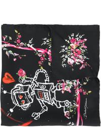 Женский черный легкий шарф от Dolce & Gabbana