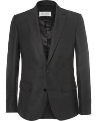 Черный льняной пиджак