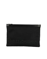 Мужской черный мужской клатч из плотной ткани от Dolce & Gabbana