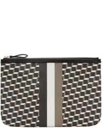 Мужской черный мужской клатч из плотной ткани от Pierre Hardy