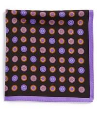 Черный нагрудный платок с геометрическим рисунком