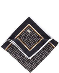 Черный нагрудный платок с принтом