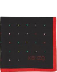 Черный нагрудный платок с принтом от Kenzo