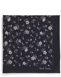 Черный нагрудный платок с цветочным принтом